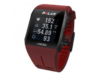 Polar V800 HR GPS sports watch red