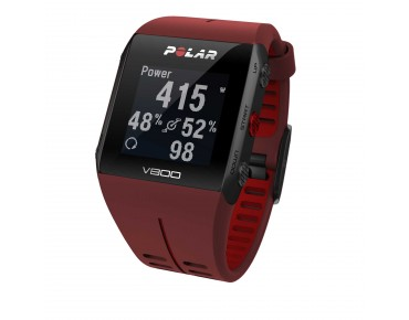 Polar V800 HR sports watch rot