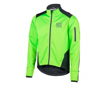ROSE Rad Jacke WIND FIBRE (Thermo-Windschutz) - MountainBike Kauftipp 1/2015 - fluo green/black