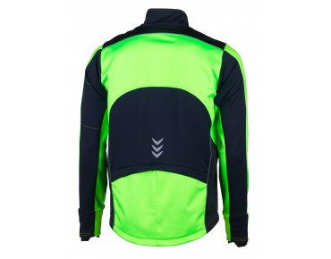 ROSE Rad Jacke WIND FIBRE (Thermo-Windschutz) fluo green/black