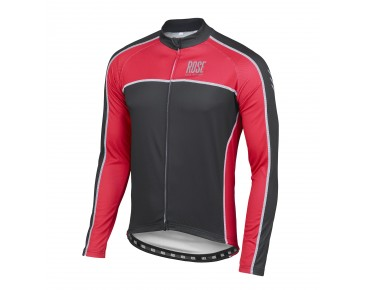 ROSE DESIGN IV Thermo Langarm Trikot black/red