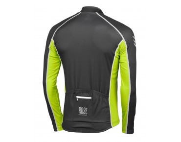 ROSE DESIGN IV Thermo Langarm Trikot black/fluo green