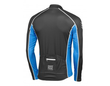 ROSE DESIGN IV Thermo Langarm Trikot black/sky