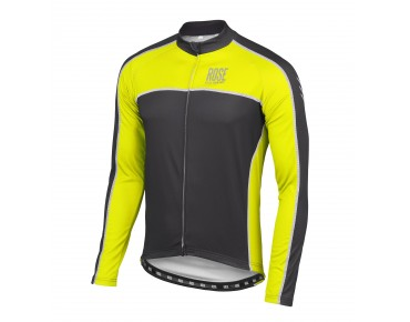 ROSE DESIGN IV Thermo Langarm Trikot black/fluo yellow