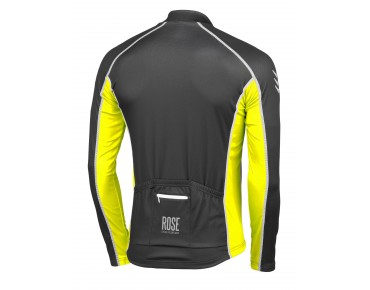 ROSE DESIGN IV thermal long-sleeved jersey black/fluo yellow