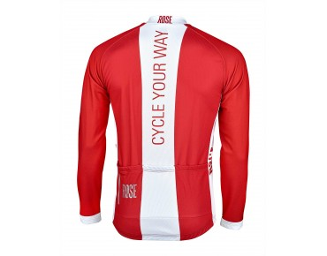 ROSE LINE THERMO long-sleeved jersey red/white