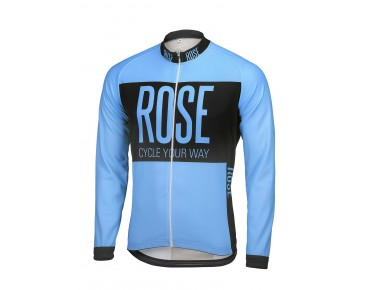 ROSE LINE THERMO Langarm Trikot sky/black