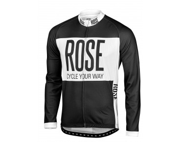 ROSE LINE THERMO Langarm Trikot black/white