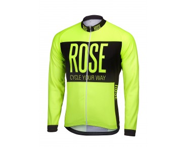 ROSE LINE THERMO long-sleeved jersey fluo yellow/black