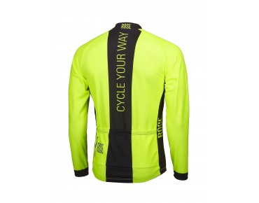 ROSE LINE THERMO Langarm Trikot fluo yellow/black