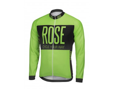ROSE LINE THERMO Langarm Trikot fluo green/black
