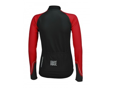 ROSE DOTS II women's long-sleeved jersey black/red