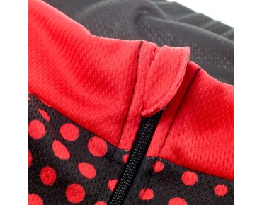 ROSE DOTS II thermal long-sleeved jersey for women black/red