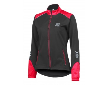 ROSE WIND FIBRE SOFTSHELL II women's jacket black/red