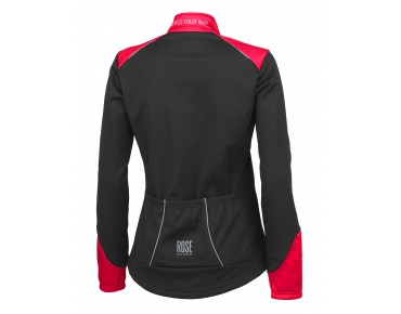 ROSE WIND FIBRE SOFTSHELL II Damen Jacke black/red