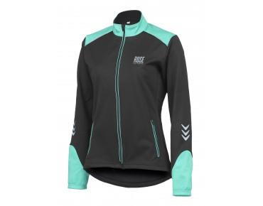 ROSE WIND FIBRE SOFTSHELL II women's jacket black/malibu