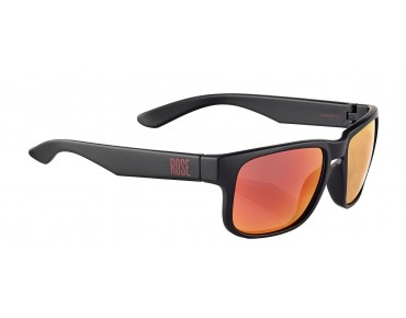 ROSE RB 02 glasses matt black / Blackred REVO