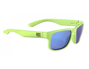 ROSE RB 02 glasses matt lime green / Blue REVO