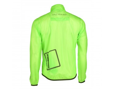 PERFORMANCE II Regenjacke flou green/transparent