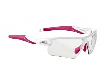 ROSE PS 07 photochromic  - occhiali fotocromatici donna shiny white-pink / photochromic clear to grey