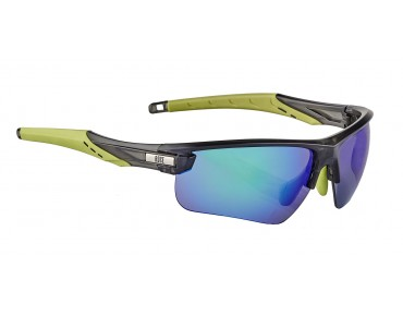 ROSE RB 03 Brille matt clear black-lime green / Green REVO