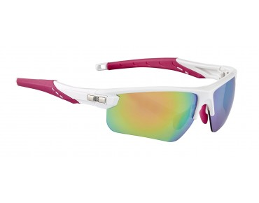 ROSE RB 03 Lady Brille shiny white-pink / Pink REVO