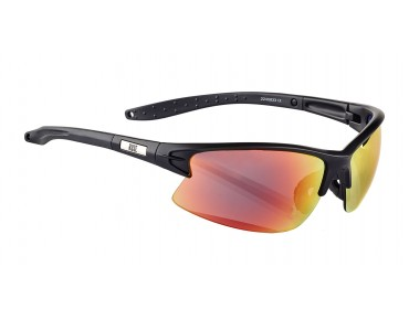 ROSE RB 04 glasses matt black / Blackred REVO