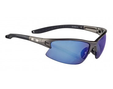 ROSE RB 04 glasses matt Metal gun-black / Blue REVO