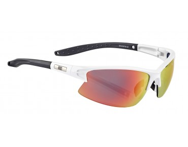 ROSE RB 04 glasses shiny white-black / Blackred REVO
