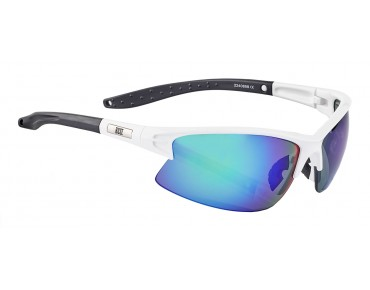 ROSE RB 04 glasses shiny white-black / Green REVO