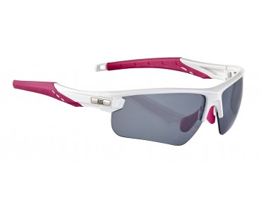 ROSE RBS 27 women's glasses set shiny white-pink / smoke mirror