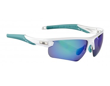 ROSE RB 03 Lady Brille shiny white-malibu / Green REVO