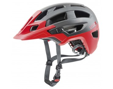 uvex finale - casco dark silver/red mat