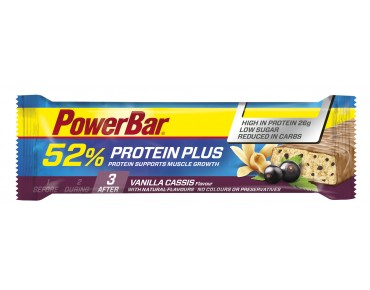 PowerBar 52% Protein Plus bar Vanilla Cassis