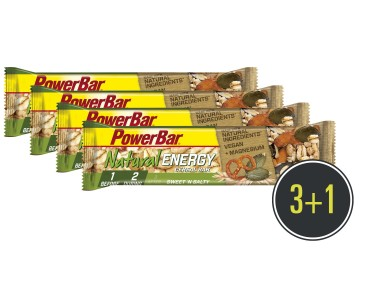 PowerBar Natural Energy Cereal Riegel Set 3 + 1 gratis Sweet'n Salty