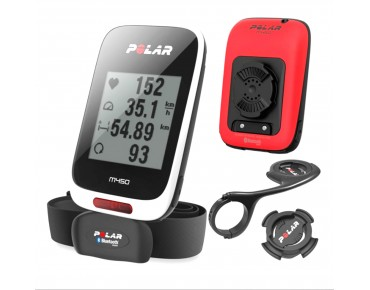Polar M450 HR bike computer with heart rate sensor Red Special Edition Bundle weiß