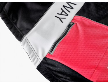 ROSE TOP CYW WIND thermal jacket black/white/red