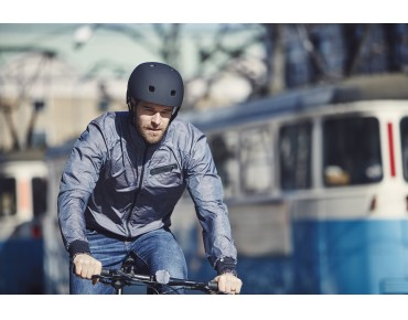 CRAFT RIDE JACKET M Windjacke gravel check/black
