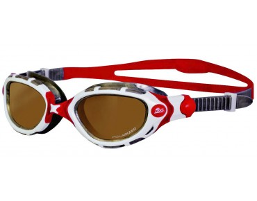 Zoggs Predator Flex swimming goggles white-red/polarized ultra lens
