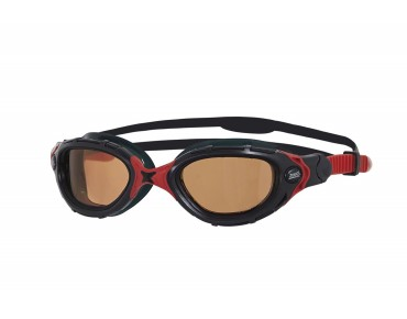 Zoggs Predator Flex swimming goggles black-red/polarized ultra lens