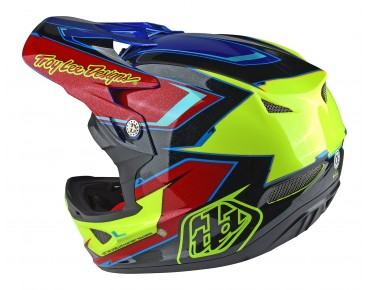 Troy Lee Designs D3 Vollvisierhelm cadence red/yellow