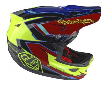 Troy Lee Designs D3 full-face helmet cadence red/yellow