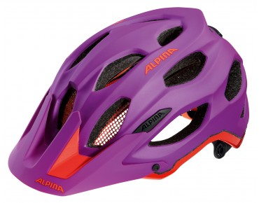 ALPINA CARAPAX - casco MTB purple/neon red