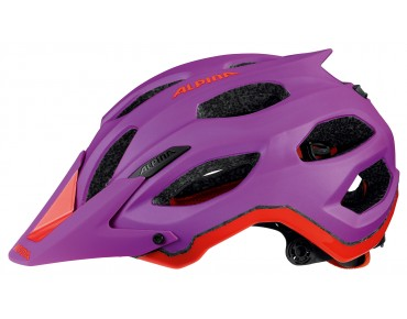 ALPINA CARAPAX MTB-Helm purple/neon red