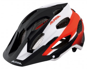 ALPINA CARAPAX MTB helmet black/white/neon red