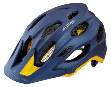 ALPINA CARAPAX MTB-Helm deepblue/yellow