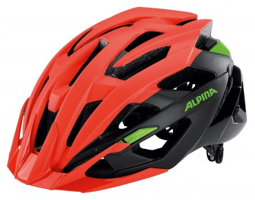 ALPINA VALPAROLA XC MTB helmet neon red/black/green