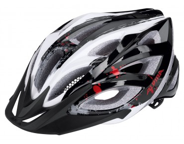 ALPINA SEHEOS Helm black/white/red