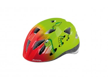 ALPINA XIMO kids' helmet little worm