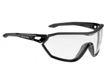 ALPINA S-WAY VL+ sports glasses black matt/varioflex black mirror